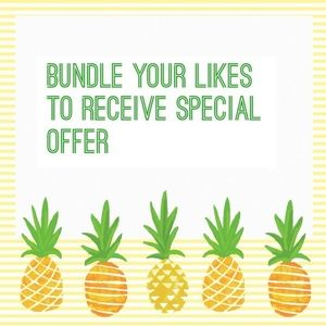 Bundle likes & I'll send you a special offer! 🍍